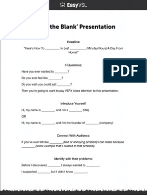 VSL Profit Blueprint Fill-in-the-Blank Examples