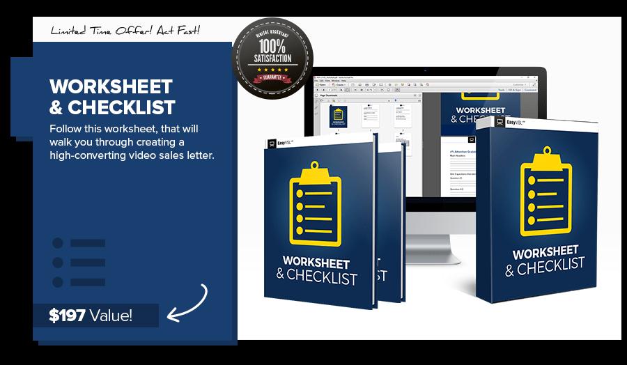Worksheet and Checklist