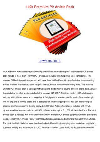 140k Premium Article