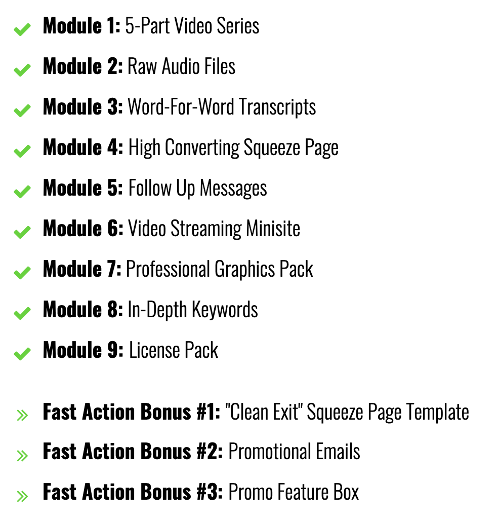 VIDEO LEAD MAGNET PACKAGE REVIEW - Frontend