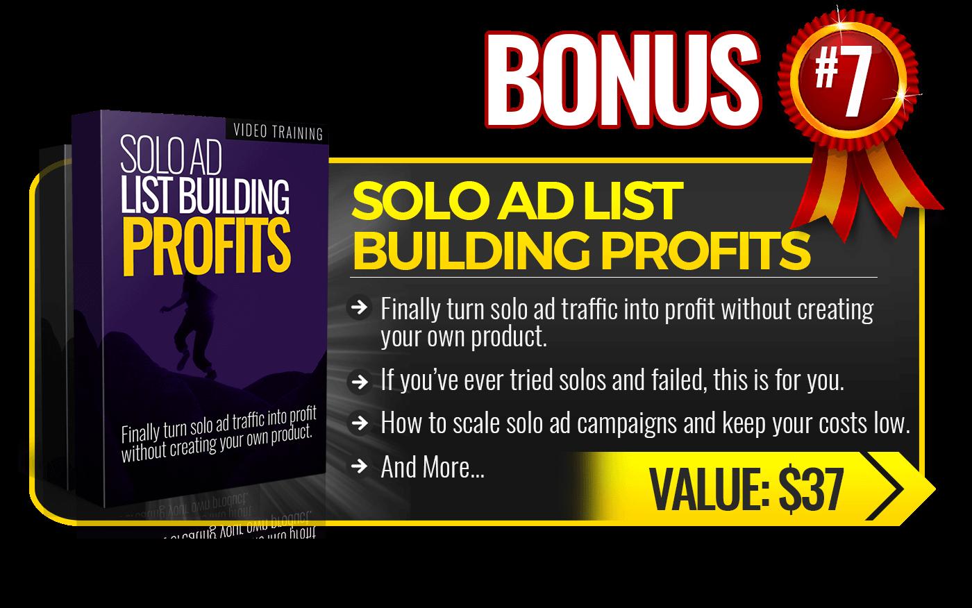 7. Solo Listing Building Profits