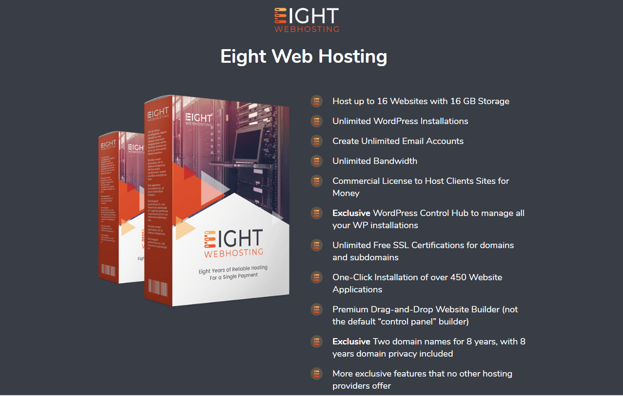 Eight Webhosting Review + Massive Bonuses + Demo + OTOs + Jv