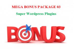 Mega Bonus Package #03 – Super WordPress Plugins