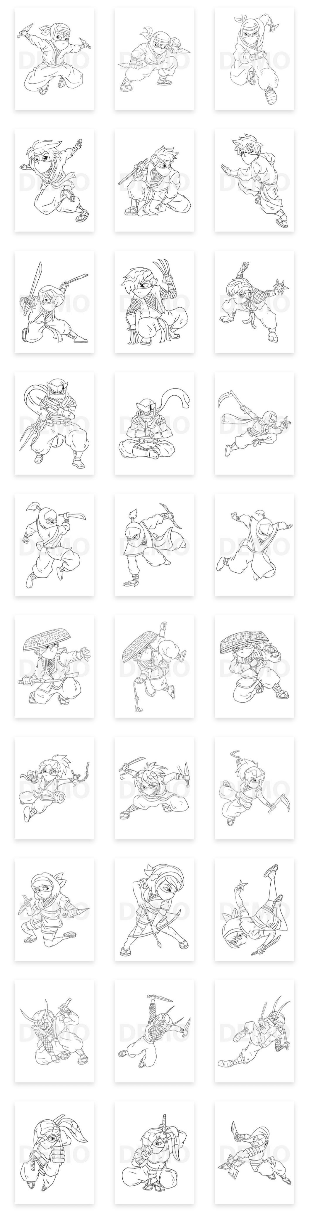 Ninja-Coloring-Pack-2