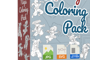 Ninja-Coloring-Pack-Review