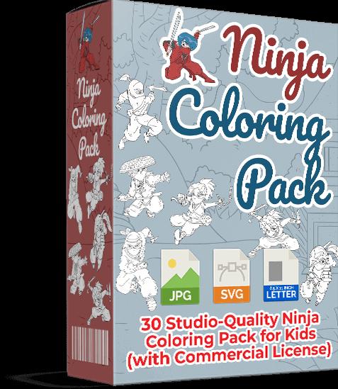 Ninja-Coloring-Pack-Review