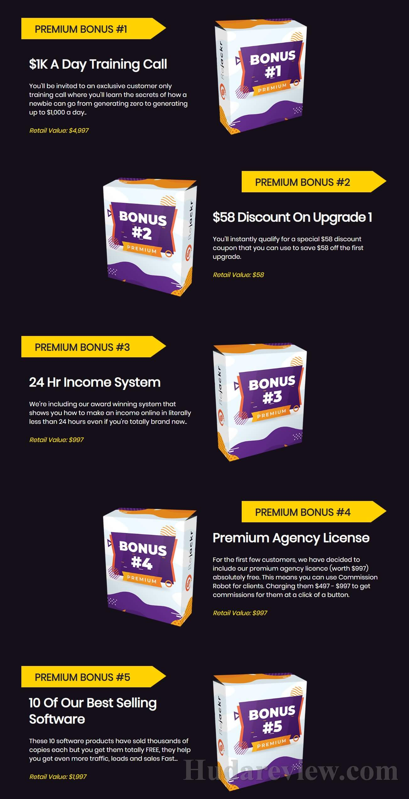 Rejackr-Bonuses