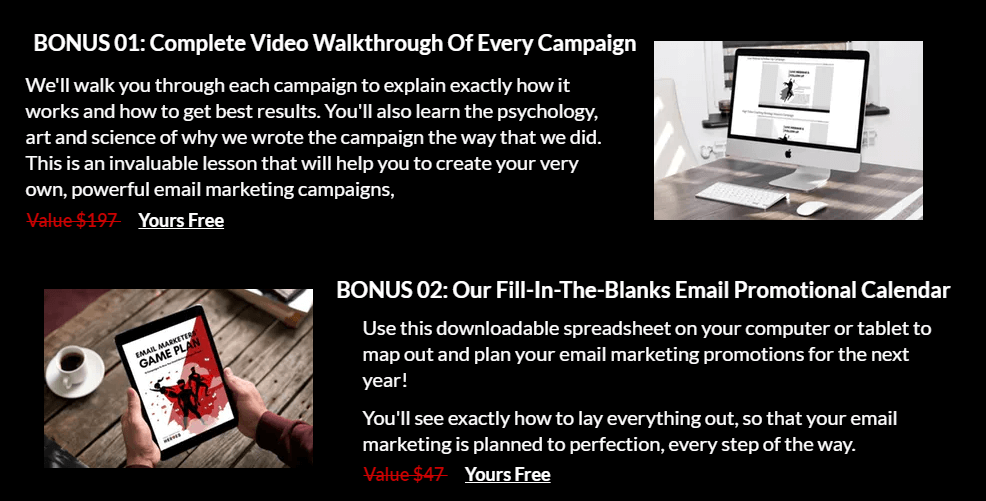 The-Email-Marketers-Game-Plan-Bonuses
