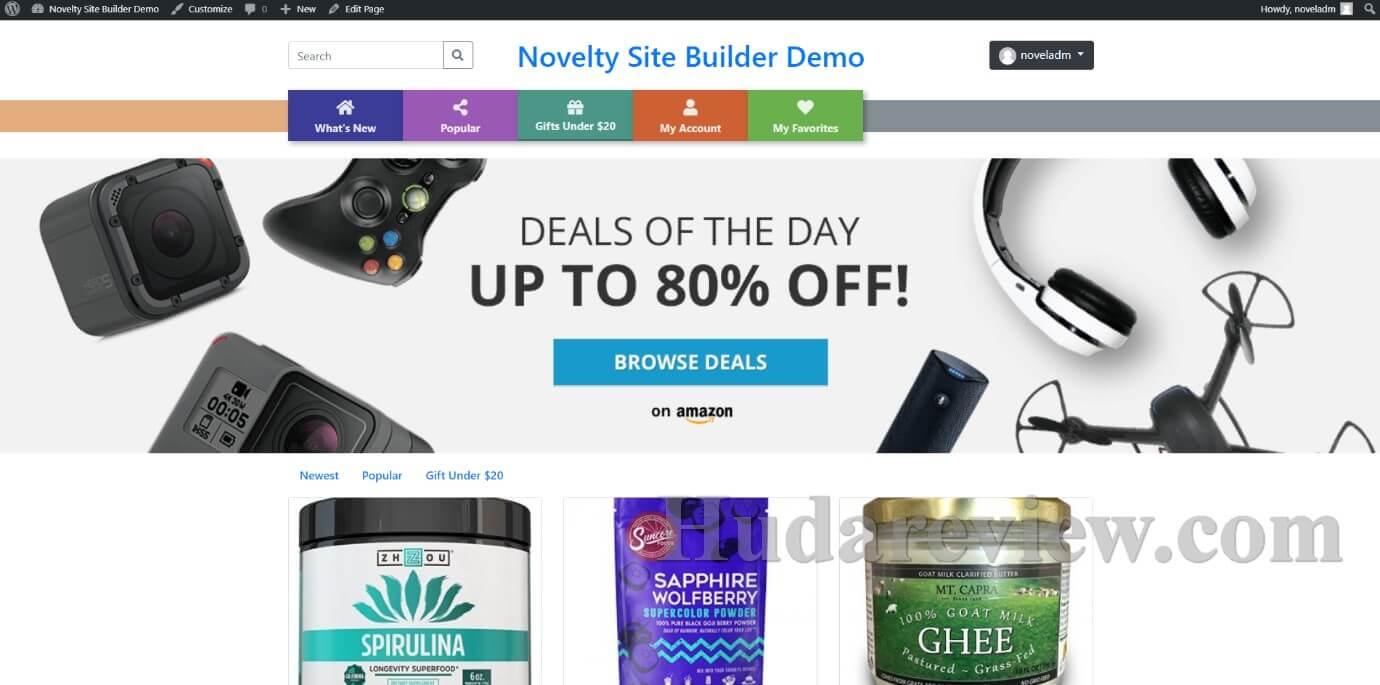 Novelty-Site-Builder-Review-Step-1