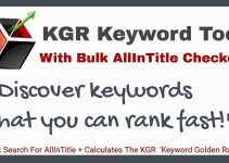 KGR Keyword Tool Review – Are You Struggling To Improve Ranking On Google?