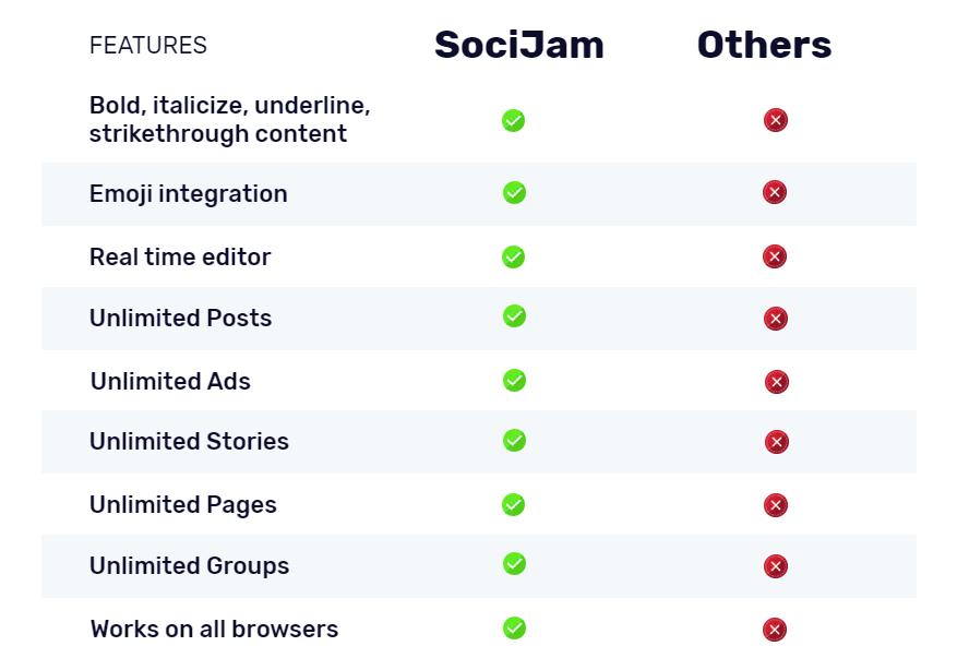 Soci-Jam-Comparison