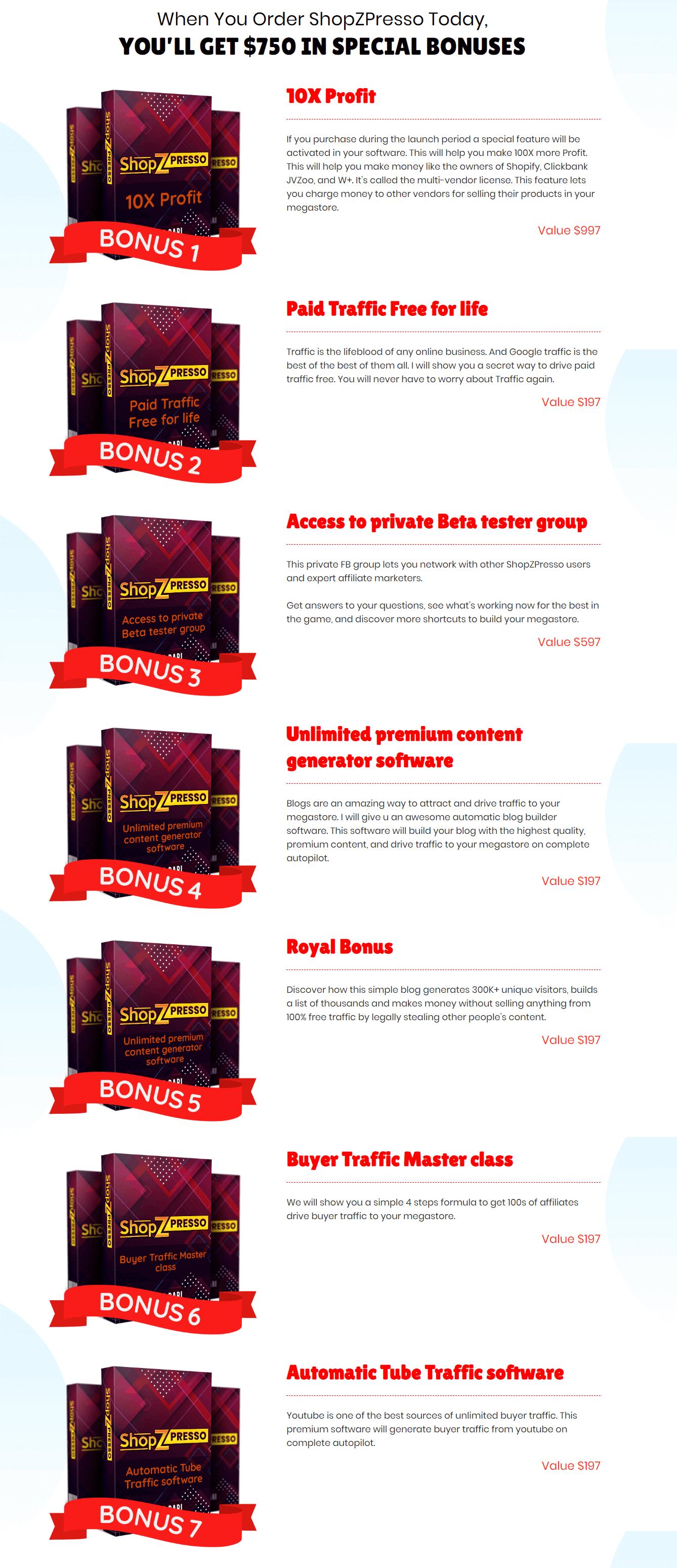 ShopZPresso-Bonuses
