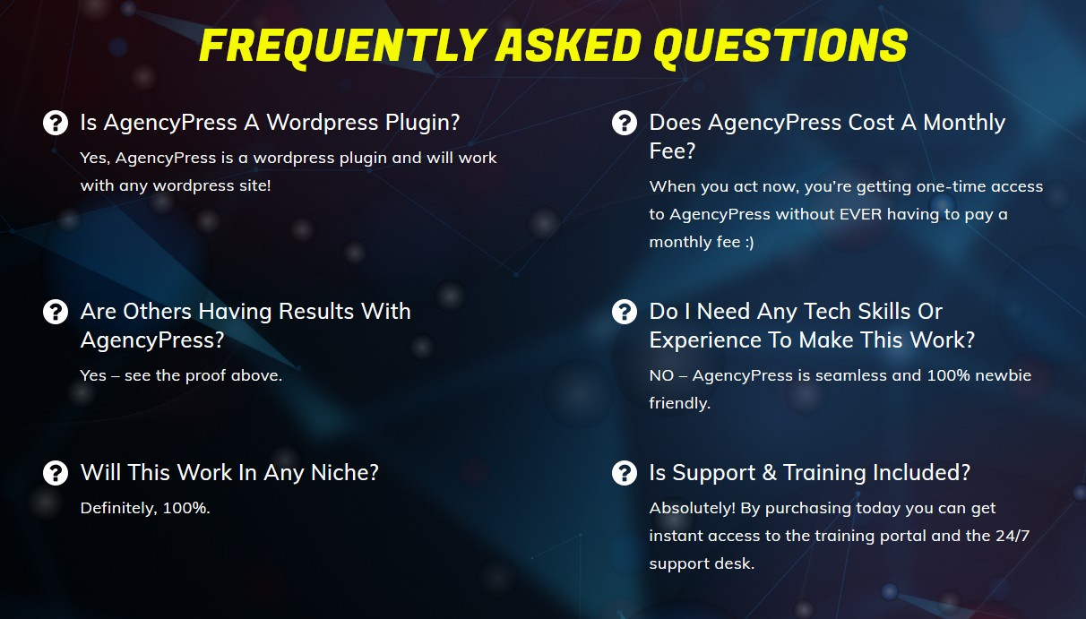 AgencyPress-faq