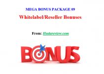 Mega Bonus Package #09 – Whitelabel/Reseller Bonuses