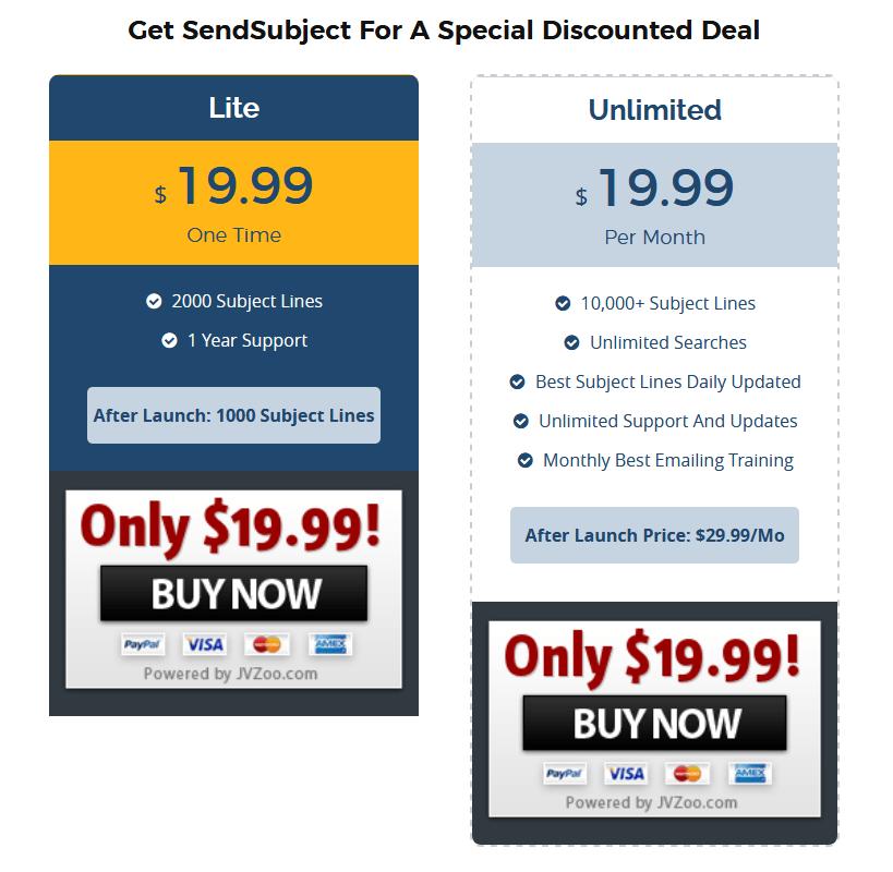 SendSubject-price