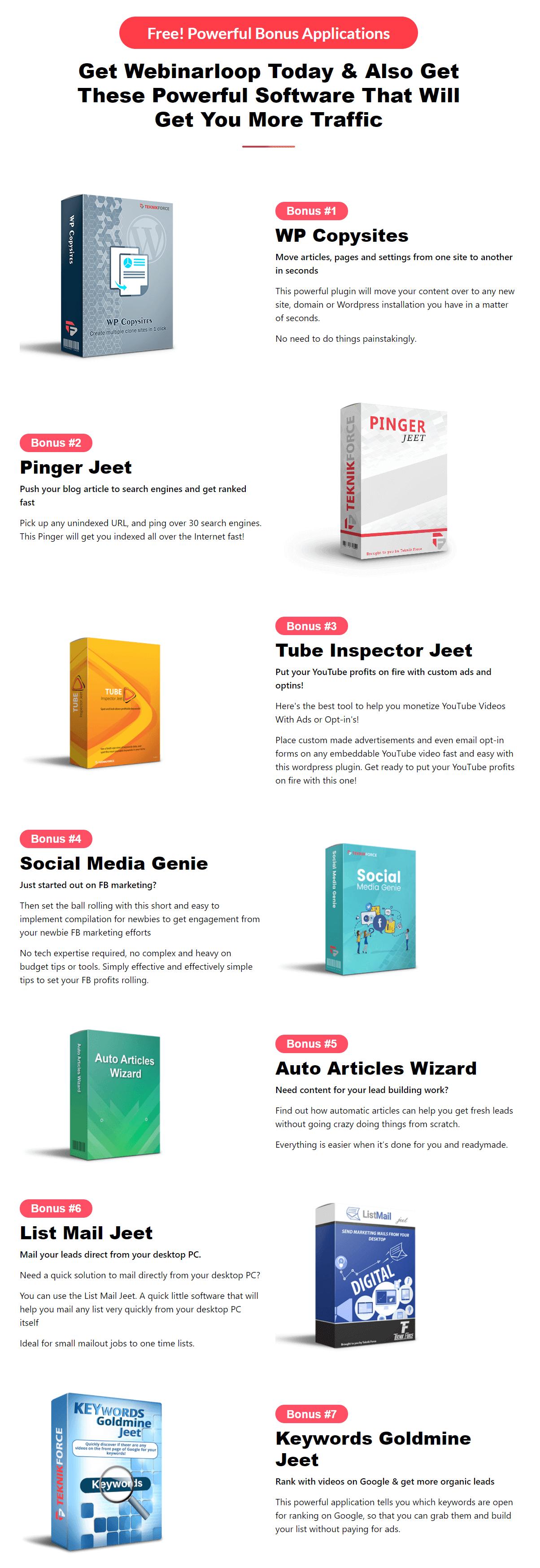 Webinarloop-Bonuses