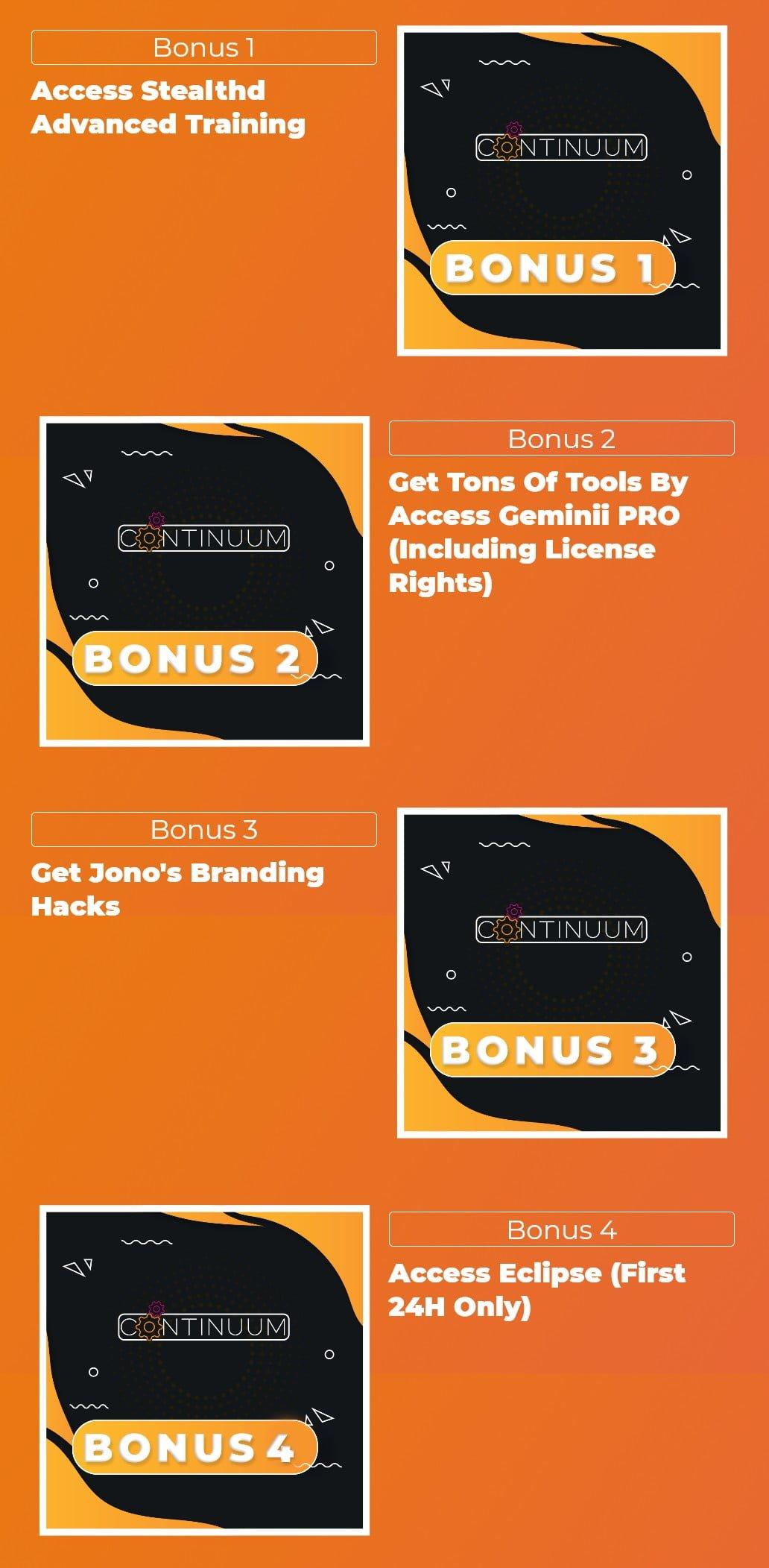 Continuum-bonus