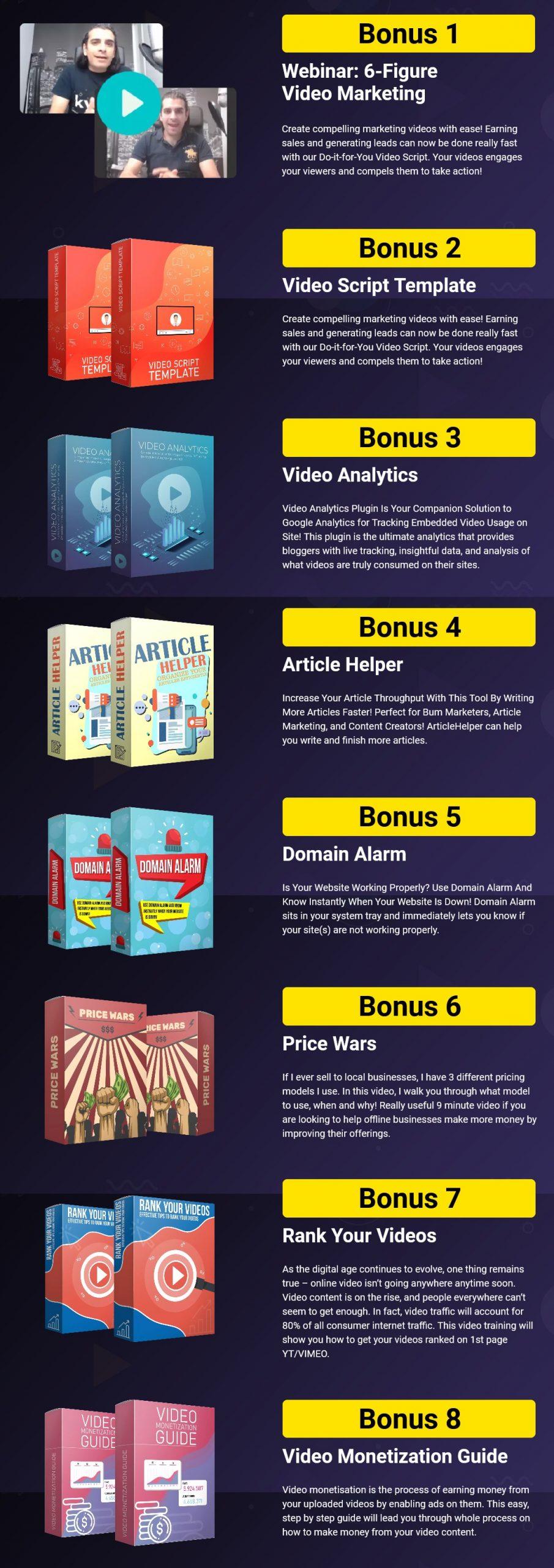 GrabVid bonuses
