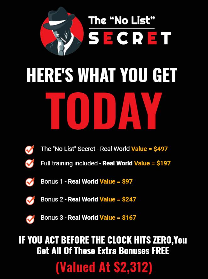 The-No-List-Secret-Review-Price