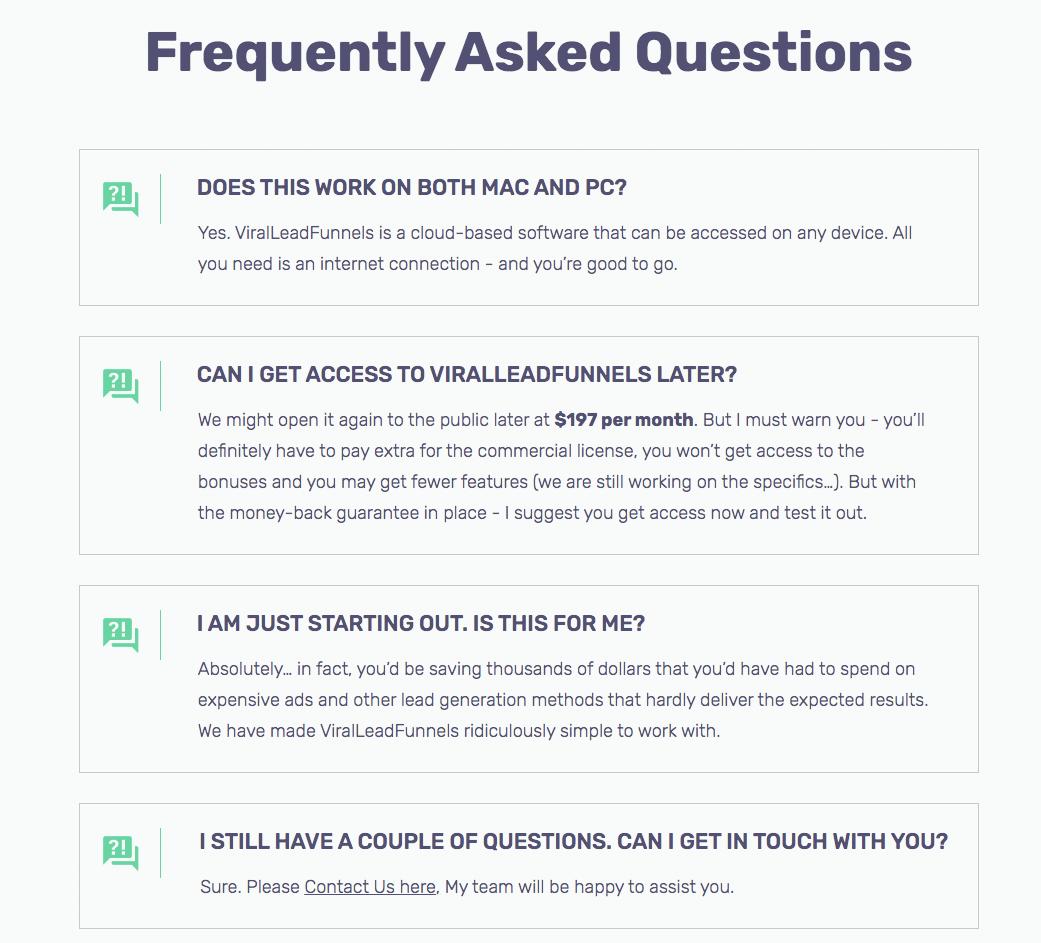 Viral-Lead-Funnels FAQ
