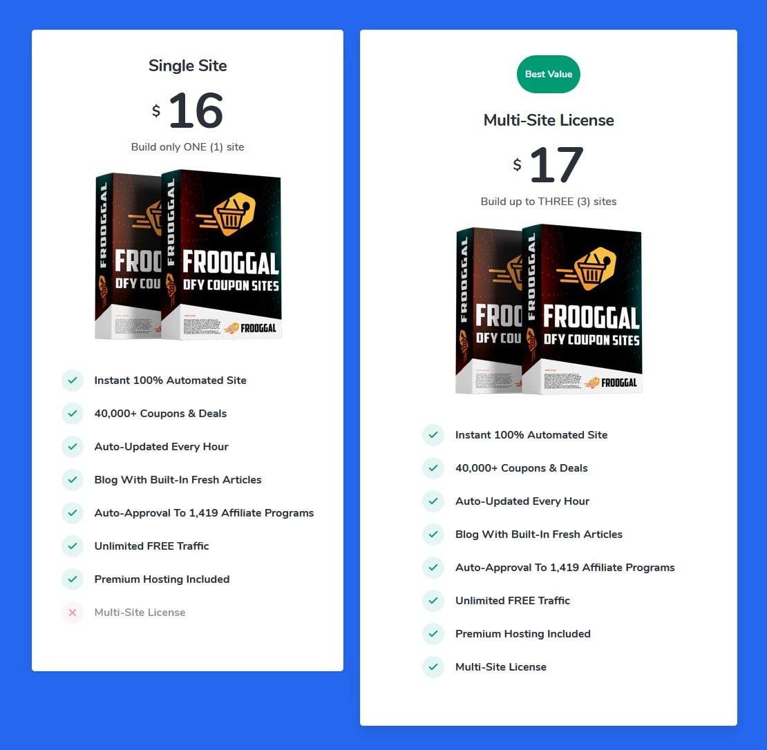 FROOGGAL-price