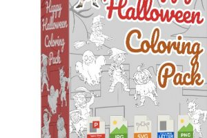 Happy Halloween Coloring Pack Review – Cash In Big On This Halloween With These Stunning Designs