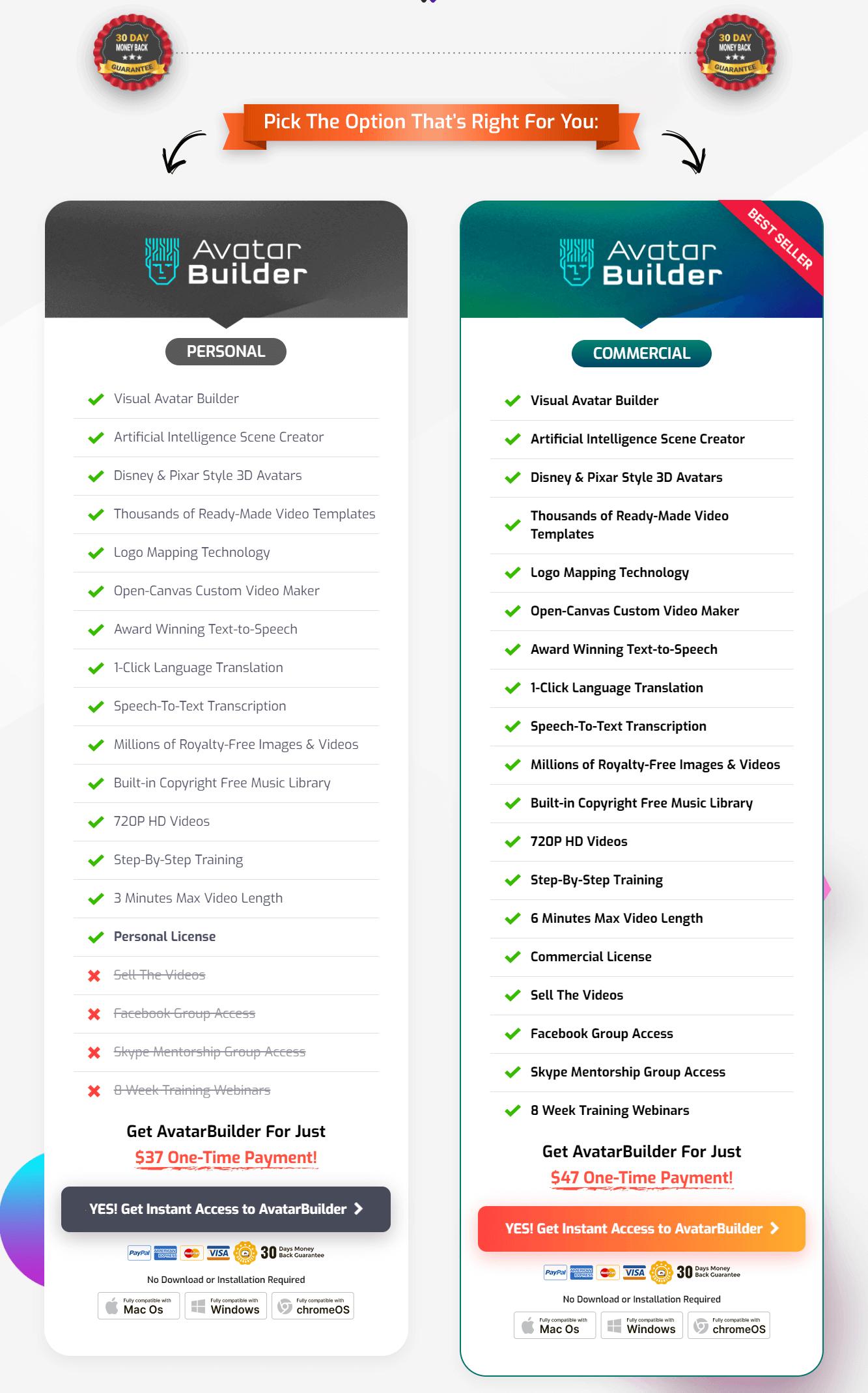 AvatarBuilder-Review-Recap