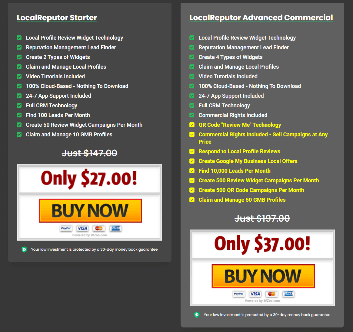 LocalReputor-Price