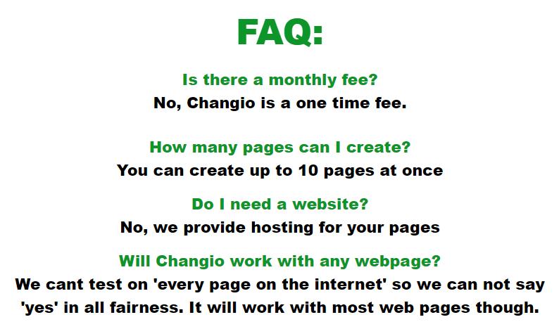 Changio-faq