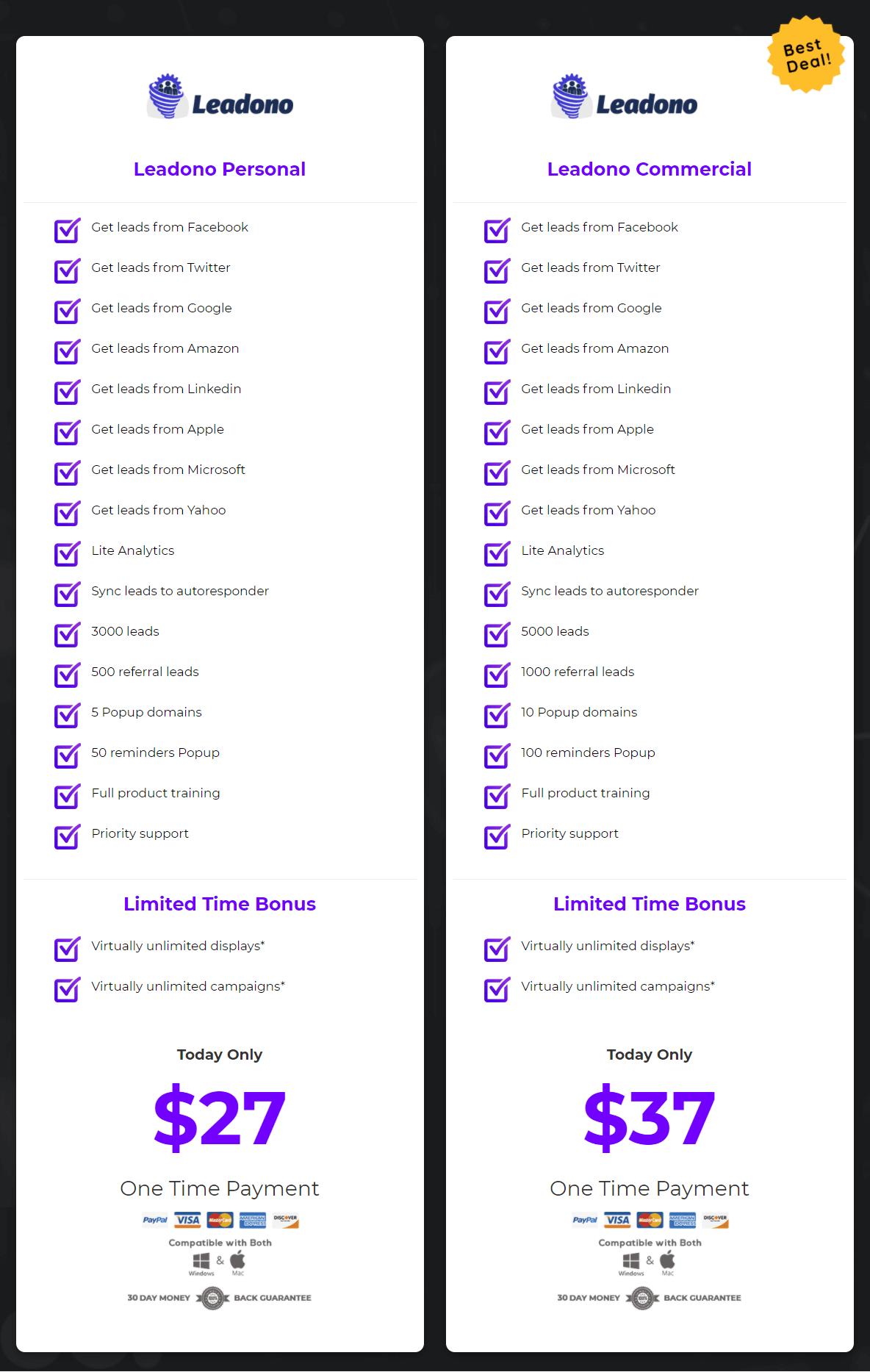 Leadono-price