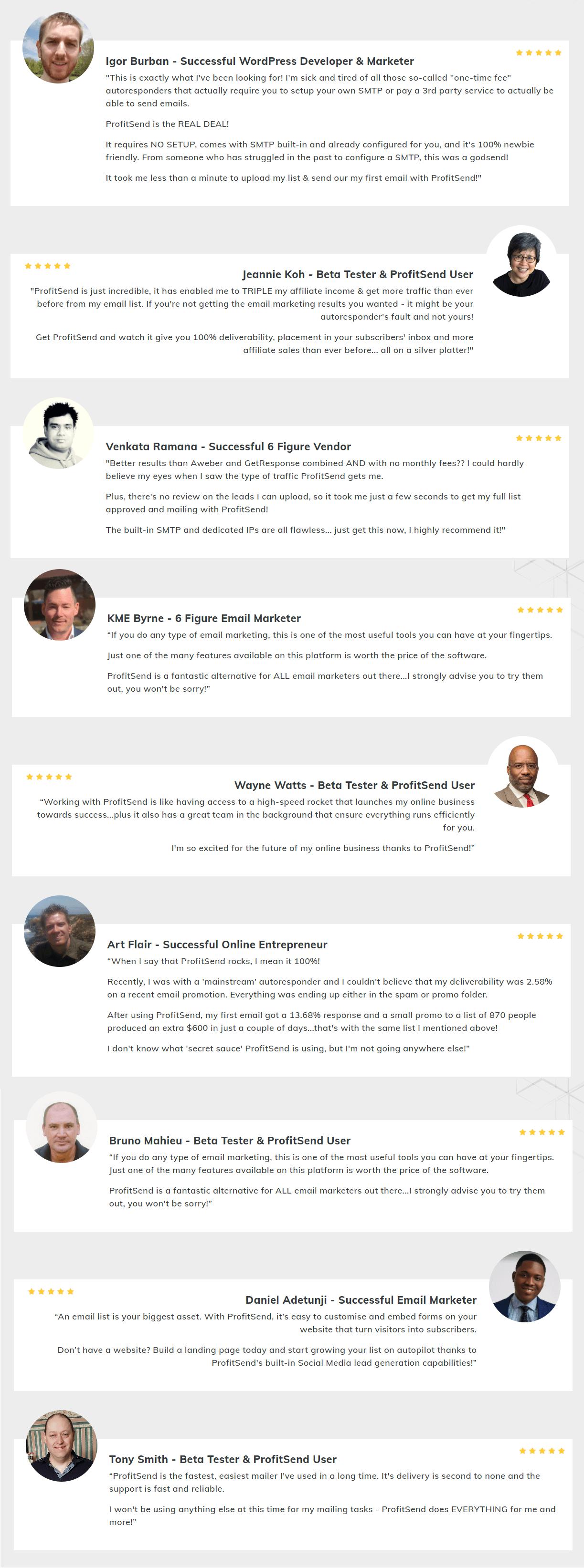 ProfitSend-feedback
