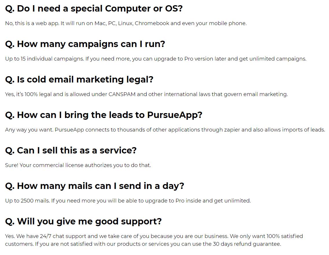 PursueApp-faq