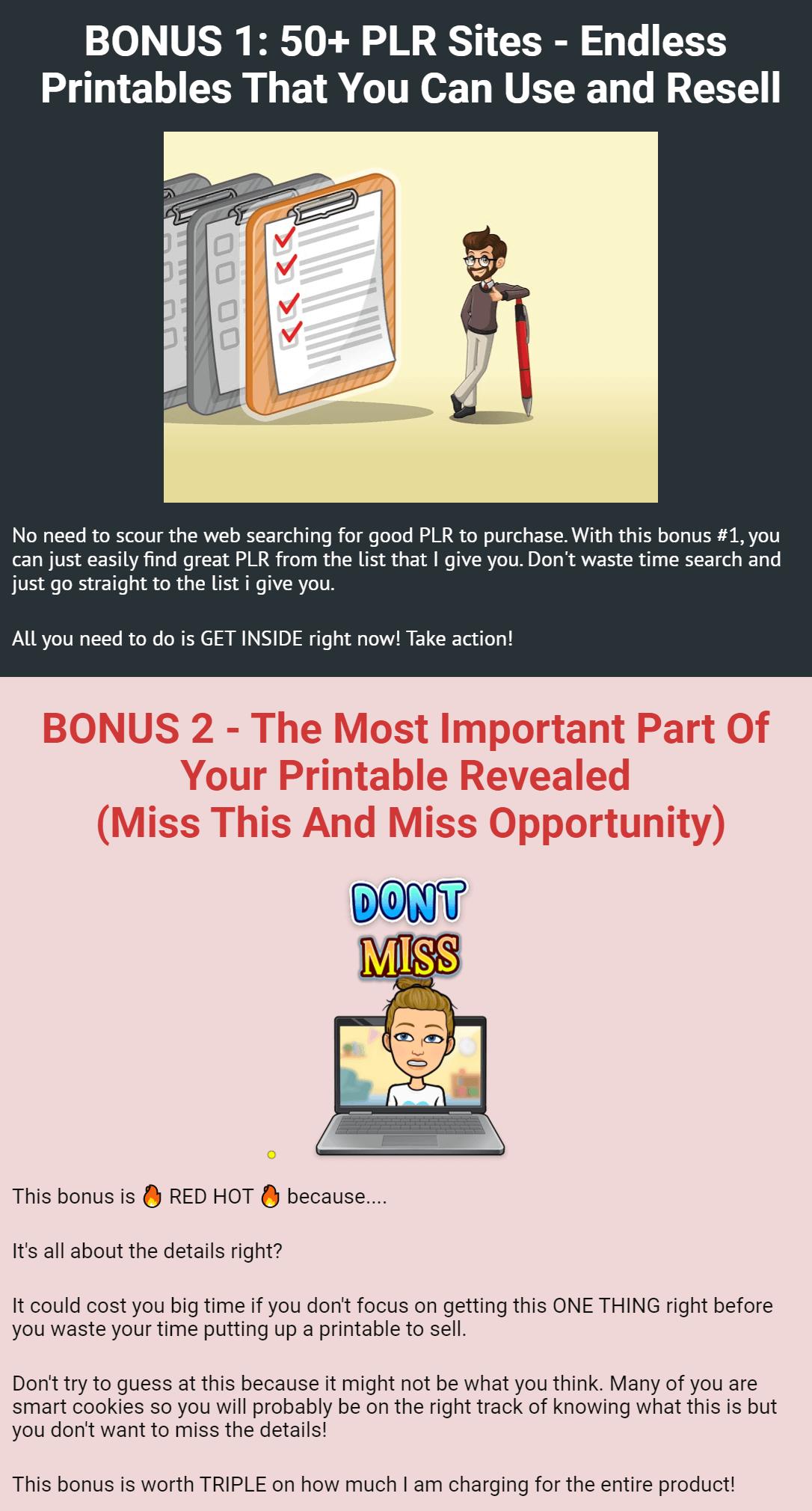 Printables-PLR-bonus