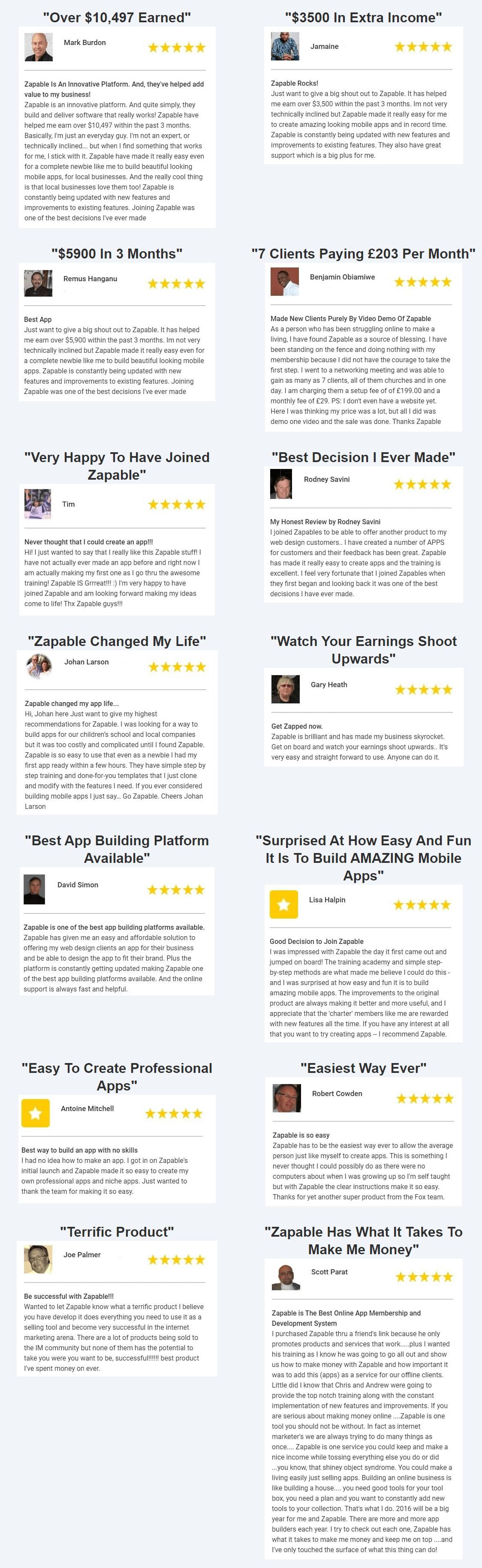 Zapable-feedback