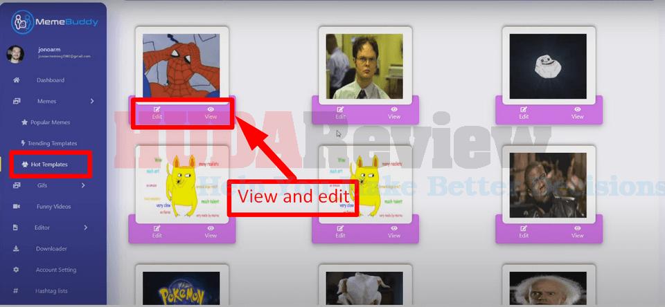 MemeBuddy-demo-3-hot-templates